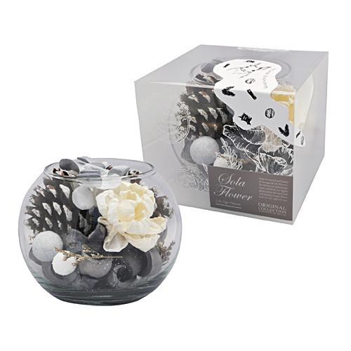 【ほっと心温まるソラフラワーとウィンターポプリの香り】Sola Flower Winter ソラフラワー Glass Bowl グラスボウル Snow Drop