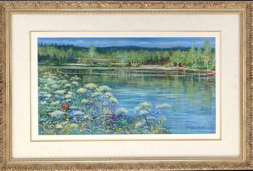 石井 清 「午後のルペシオ湖・フィンランド」