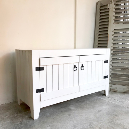 Painted Wood Old Cabinet
