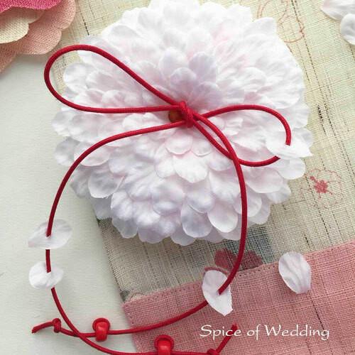 桜の花びらリングピロー手作りキット(イタリア製サテン)