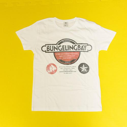 BungelingBay Tシャツ(ホワイト×黒字3点ロゴ)