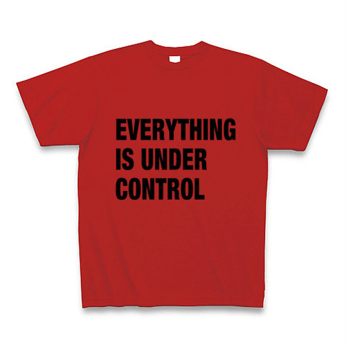 EVERYTHING IS UNDER CONTROL T SHIRT 送料無料