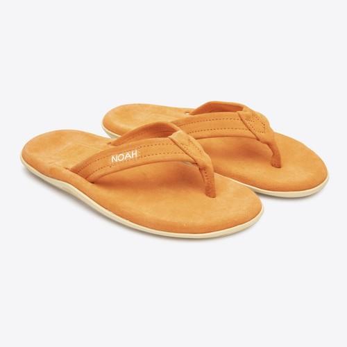 Neon Suede Island Slippers(Orange)