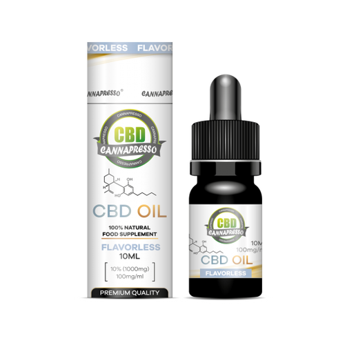 CANNAPRESSO  CBD OIL 10ml 1000mg Flavorless