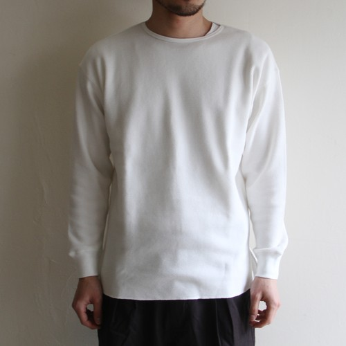 STILL BY HAND【 mens 】honeycomb long sleeve