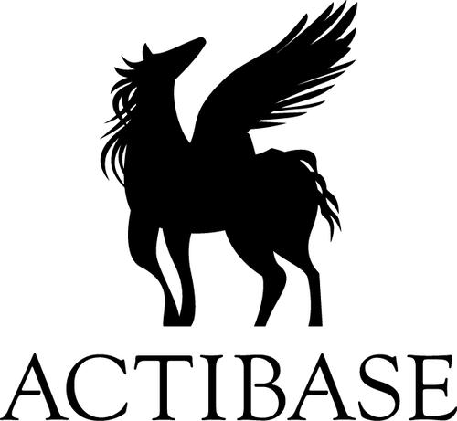 ACTIBASE透明ステッカー8x8【黒】