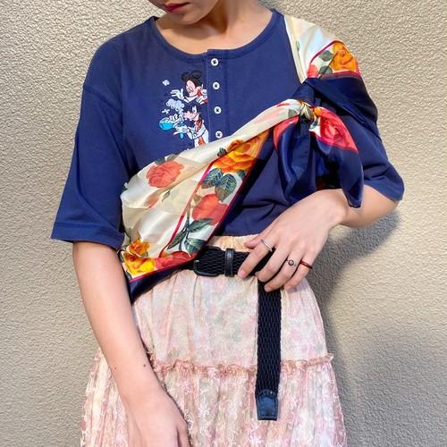 (TOYO) flower pattern scarf