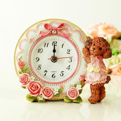 トイプードル置き時計