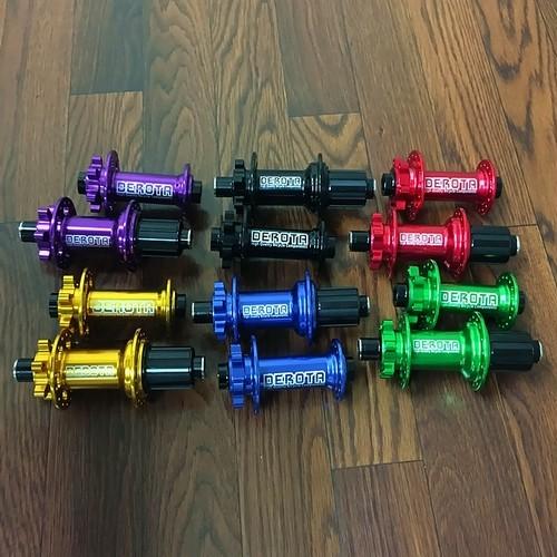 DEROTA 110×15mm 148×12mm MTB Boostハブセット