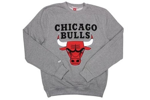 MITCHELL&NESS FLEECE CREW NECK SWEAT (Tailored/NBA/Chicago Bulls: GREY)