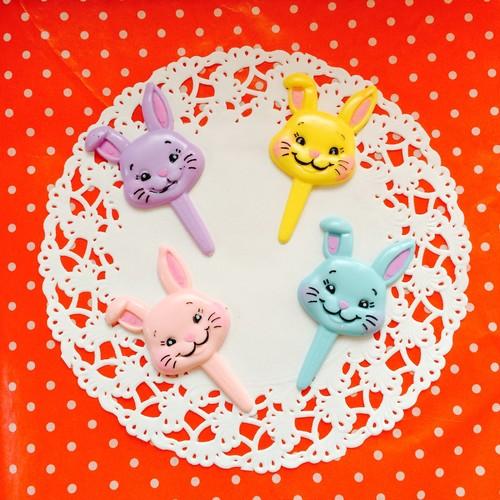 うさぎさんのケーキトッパー4色セット