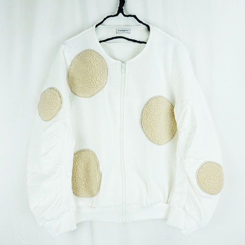 UNEVEN BOA DOTS SWEAT BLOUSON / WOMEN