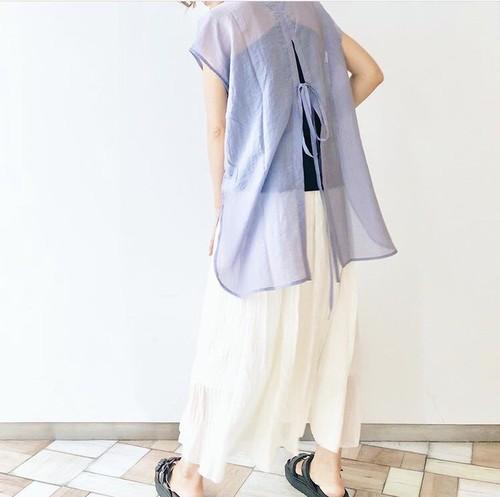 【BASE限定】シアーポプリンバックスリットシャツ/LPUR