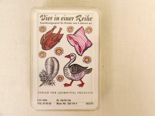 DDR(旧東ドイツ)のカードゲーム Vier in einer Reihe 4つが1列に