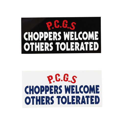 CHOPPERS WELCOME STICKER