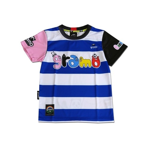 BARBAPAPA×gramo コラボ プラシャツ「HELLO!」(ブルー/P-027) ※110cm~150cm