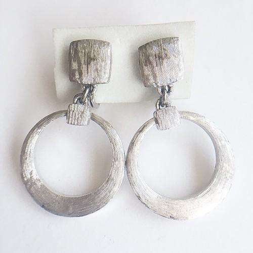"""Monet"" silver circle earring[e-850]"