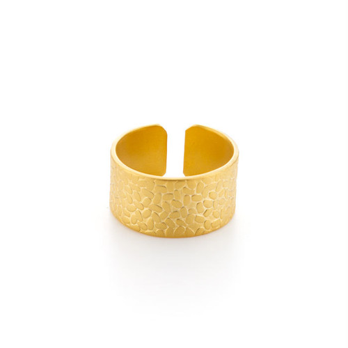 Wide Textured Ring - Rice