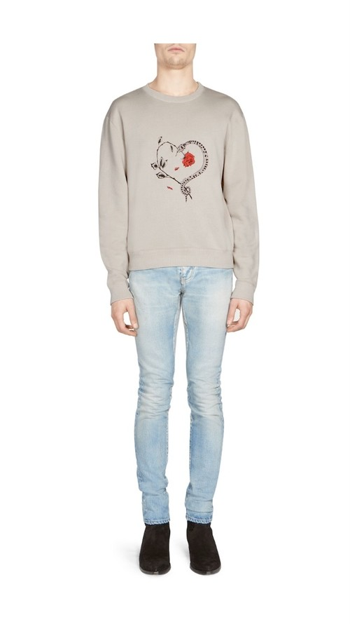 SAINT LAURENT(サンローラン) Heart Graphic Sweatshirt