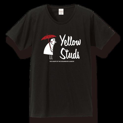 Tシャツ 【傘インコ、ブラック】