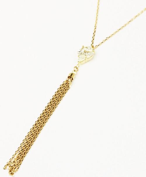 k18枠ダイヤモンド0.40ctタッセルネックレス