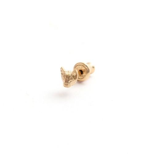 simmon/Cat Head Pierce_Gold(片耳)