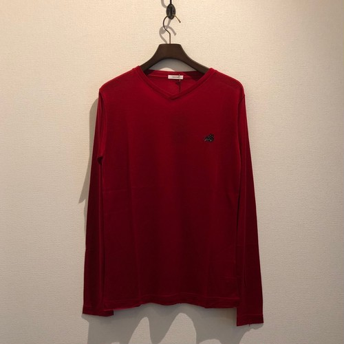 L/S V NECK TEE (RED) / GAVIAL