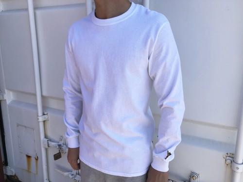 alohaサインone point ロングTシャツ(white)