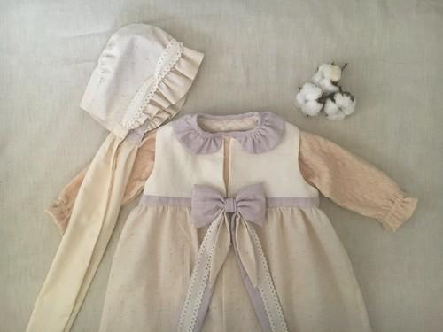 ベビードレス (beige lavender)