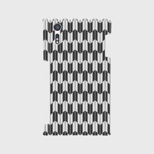 Xperia XZ SO-01J/SOV34/601SO 側面+裏面スマホケース 矢絣A(MMD-SHSO1J-T003GR1)