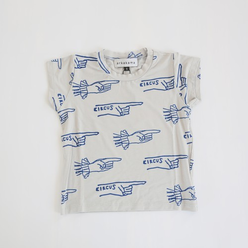 arkakama(アルカカマ)/ VISCOSE S/S Tee / Overe There(W.GREY x R.BLUE) / S~L