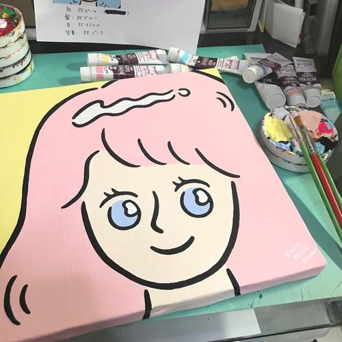 手描き原画【リカちゃん】