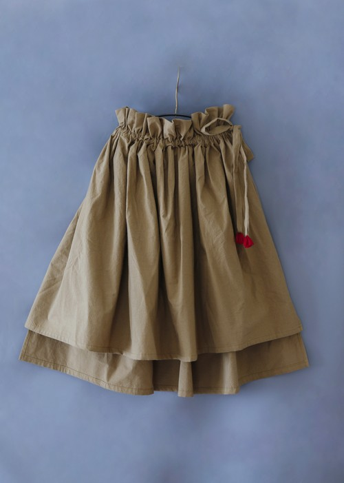 《michirico 2019SS》Asymmetry skirt / darkbeige / S・M