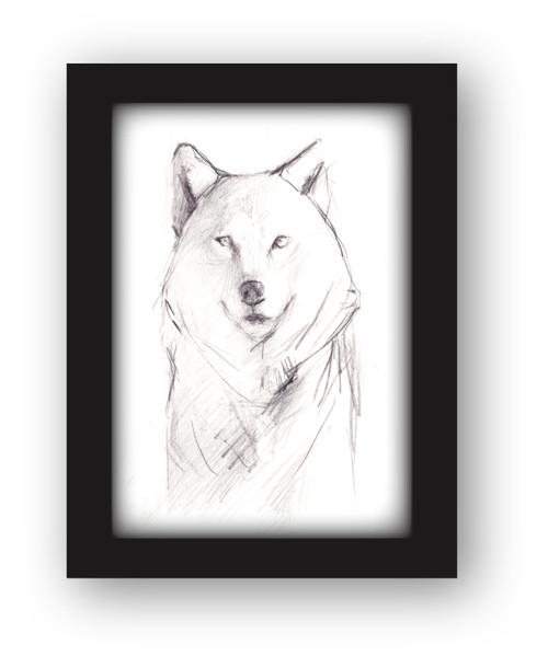 彫刻家・中里勇太ドローイング・犬