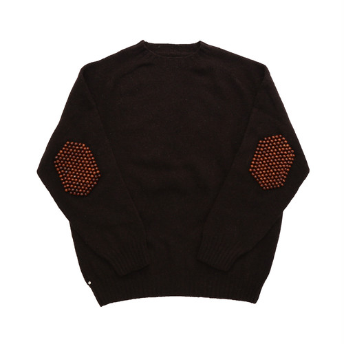 BLESS Pearlpad sweater(BROWN)