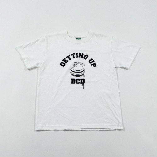 GETTING UP T-Shirt - B Black × White