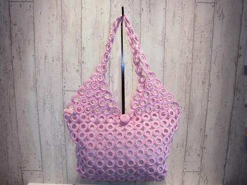 ショルダーリングバッグ ピンク