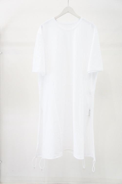 Tied Short Sleeve -WHITE- / Ground Y