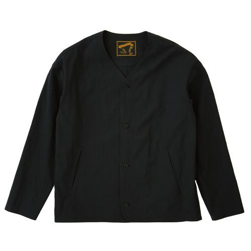 SHADOW GRENCHECK NO-COLLAR JK / シャドウチェックノーカラージャケット(BLK)