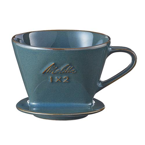 【限定商品】Melitta 陶器フィルター SF-P-L 1x2(ターコイズブルー・シトロングリーン)