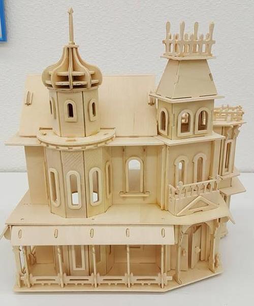 【送料無料】3D立体 木製パズル!木製ハウス③