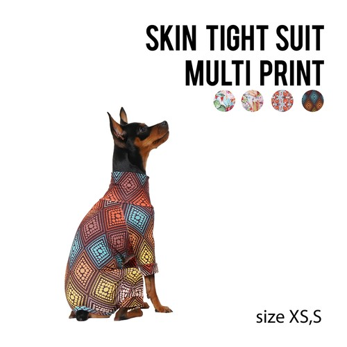 SKIN TIGHT SUIT MULTI PRINT(XS,S) スキンタイトスーツマルチプリント