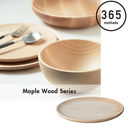 365methods メープル ウッド プレート ディッシュ S 18cm 木製 ウッド 容器 キッチン 台所 アウトドア 用品 キャンプ グッズ 365メソッド サンロクゴ・メソッド 料理 調理 レジャー