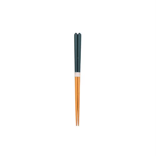 ダイヤカット箸(豆)紺 【45-013】