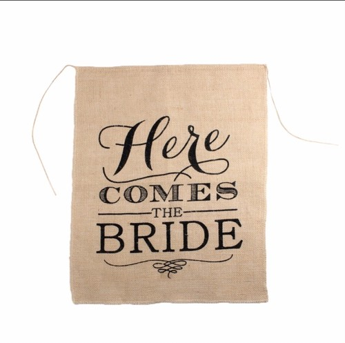 【販売】Here Comes the Bride フラッグ