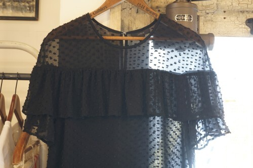 J.CREW black silk cotton sheer Blouse