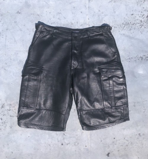 undercover / 90's lether shorts