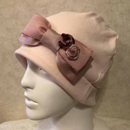 ベルベットの薔薇のケア帽子 ピンク