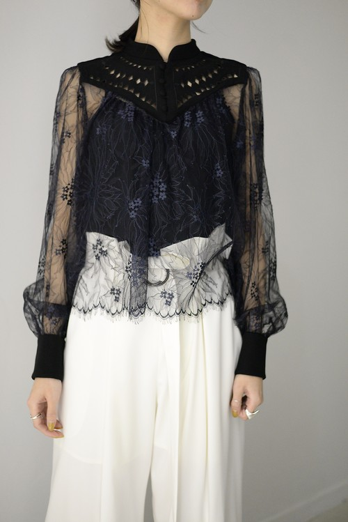 LOKITHO / Leavers lace shirt