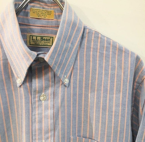 L.L.Bean : oxford stripe B.D. shirt (used)